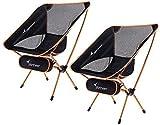 Sportneer Silla de Camping, portátil, Ligera, Plegable, hasta 150 kg, para mochileros, Senderismo, picnics, Peces, 2 Pack