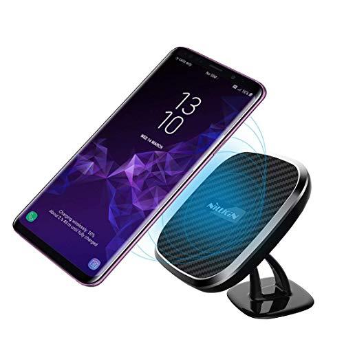 Nillkin Cargador de Coche inalámbrico, Qi Montaje de ventilación de Aire del Coche magnético,para Samsung Note 10/9/S10/S9, Carga rápida 7.5W para iPhone 11/11 Pro/11 Pro Max/XS MAX/XS/XR/X/8-Modelo C