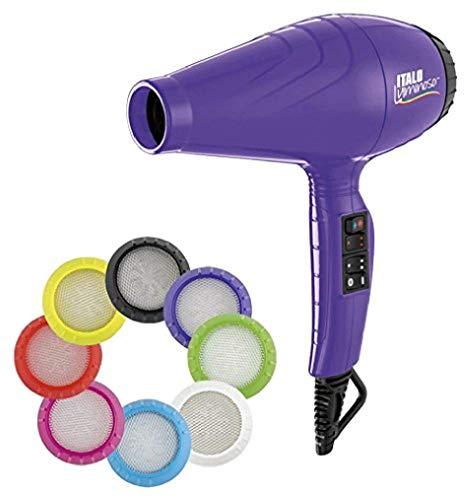 BaByliss Pro - Secador luminoso ionico, 6 ajustes de calor y velocidad, 2100 W, color violeta