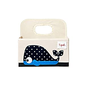 3 Sprouts Baby Diaper Caddy – Organizer Basket for Nursery – Whale