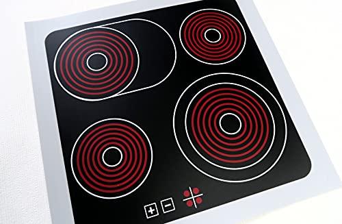 Witzel Wutz Aufkleber Ceranfeld Herdplatten für Spielküche/Matschküche DIY 30×30 cm