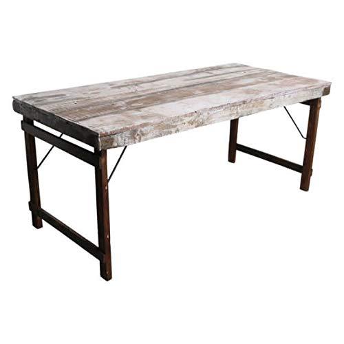 MATHI DESIGN Table Pliante Bois Blanc