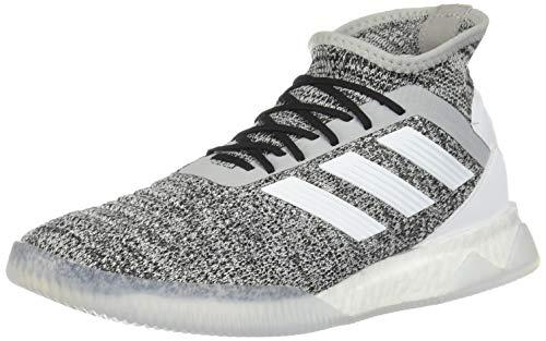 adidas Predator 19.1 TR - Zapatillas de fútbol para hombre (gris/blanco/azul), Gris (Gris/blanco/azul), 40 EU