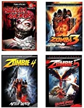 {9 Twisted Horror Movies Pack} Zombie 3, Zombie 4, Zombie 5, Slaughtered, Disk Jockey, Dead Body Man, Skyggen, When Heaven Comes Down, Demon Slaughter