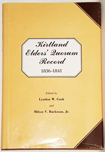 Kirtland Elder's Quorum Record
