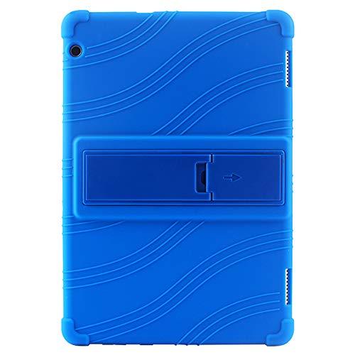 Meijunter Custodia Cover per 10.1  Huawei MediaPad T5 AGS2-W09BHN CHN 2018 Tablet - Supporto Silicone Gomma Guscio Anti Scivolo Protettivo Sleeve (Buio Blu)