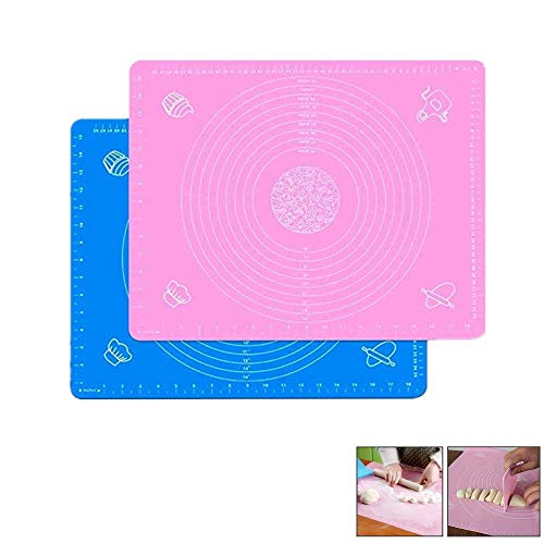Yuhtech 2 Pack Silicone Baking Mat Medidas Rolling