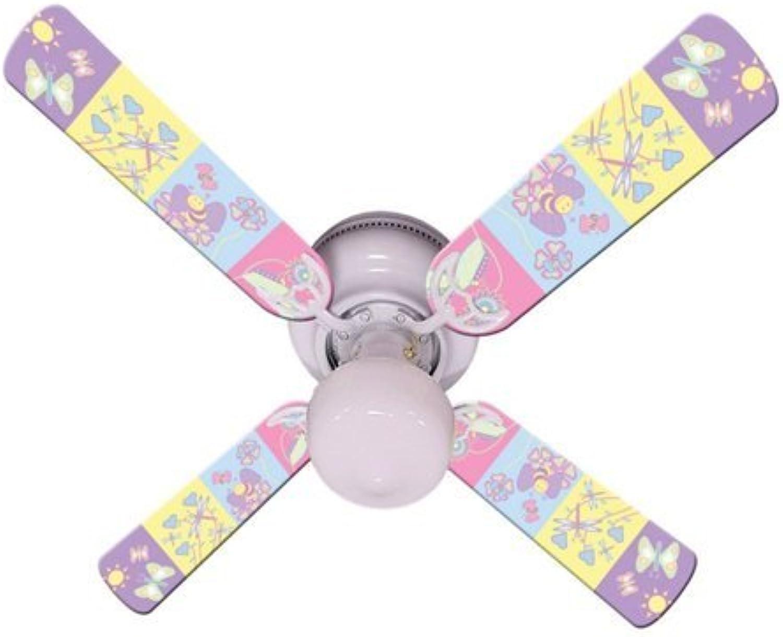 Ceiling Fan Designers Ceiling Fan, Baby Nursery Happy Wings, 42