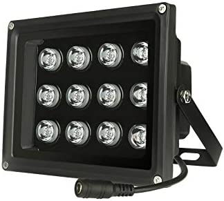 850NM IR Illuminator 90 Degree Wide Angle 12 LED Night Vision Infrared Light for IP CCTV Security product image