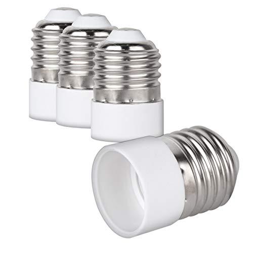 kwmobile 4x adaptateur de douille - Convertisseur de douilles E27 vers E14 - Adaptateur de support de lampe culot E14 pour ampoule LED halogène
