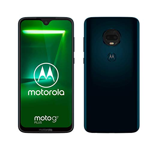 "Motorola Moto G7 Plus, Smartphone Android 9.0, Display 6,2"" (FHD+, 2270 x 1080 Pixel), Dual Camera da 16Mp, 4/64 GB, Dual Sim, Indaco(Deep Indigo)"