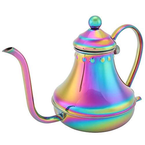 Mały dzbanek do kawy, przelewowy ekspres do kawy ze stali nierdzewnej, czajnik do kawy, do domowego biura restauracja Cafe