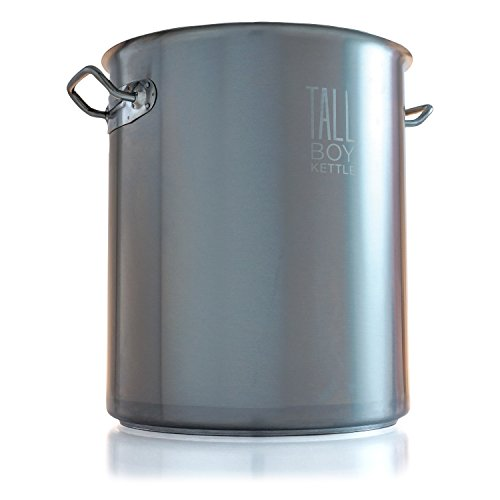 Northern Brewer - Tall Boy HomeBrewing Stainless Steel Brew Kettle Stock Pot For Beer Brewing - (8 Gallon Capacity/32 Quarts)