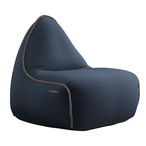 SACKit - RETROit Cura - Indoor Sitzsack mit Lehne - Exklusiver und nachhaltiger Lounge Sitzsack - Großer Sitzsacke für Erwachsene - Dark Blue