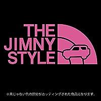 ジムニー 3代目JB23/JB33/JB43系ステッカー THE JIMNY STYLE【カッティングシート】パロディ(12色から選べます) (ピンク)