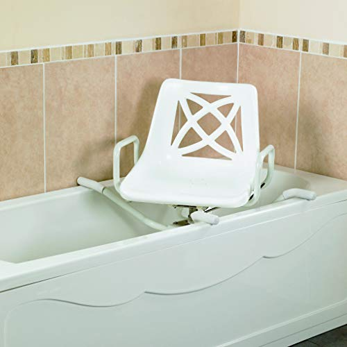 """Days Aluminium Swivelling Bath Seat, 665 mm (26""""), Bathroom Daily Living Aid for Disabled, Handicapped, & Elderly, Promotes Bathroom Independance, Safe Transfers (Eligible for VAT Relief in The UK)"""