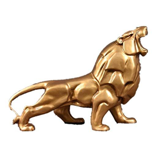LOSAYM Statue Ornaments Sculptures Resin Lion Sculpture Handicraft Home Decor Resin Lion Statue Ornaments