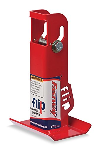 Fastway Flip 88-00-6500 Trailer Tongue Automatic Fold-Up Jack Foot Plate--6 Inch Extension (2-Inch Inner Jack Tube), 2 1/4 Inch