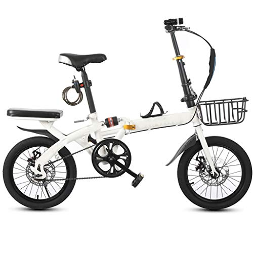 Review TXTC Folding Bike Bicycle 16/20 Inch Wheel Adult Student Male and Female Variable Speed Ultra Light Portable Womens Bike for Commuting Bike in Urban Environments