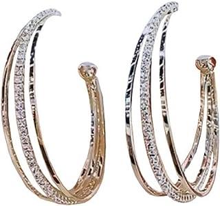 Gold Hoop Earrings Set for Women Girls Bohemian Hoop Stud Drop Dangle Earrings Leather Leaf Earrings for Birthday/Party/Ch...