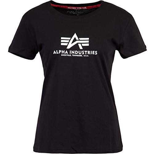 ALPHA INDUSTRIES Camiseta básica para mujer. negro L