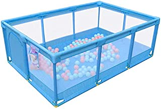Playpens Large Baby with Activity Panel Sides Portable Folded Indoor  Safety Play Center Yard Outdoor Boys Girls Fence  Color Blue