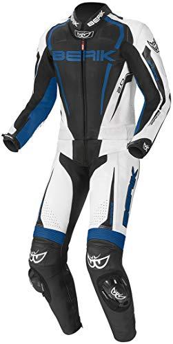 Berik Race-X 2-Teiler Motorrad Lederkombi 48 Schwarz/Weiß/Blau