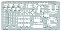 ドラパス テンプレート E507 オフィスレイアウト定規 1:100 A 31507