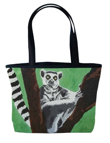 Vegan Lemur Tote Bag