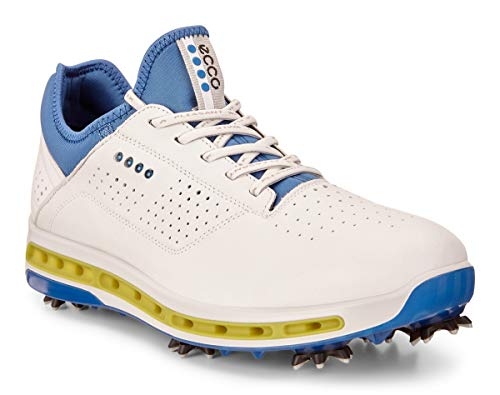ECCO Men's Cool 18 Gore-Tex Golf Shoe, White/Dynasty, 10 M US