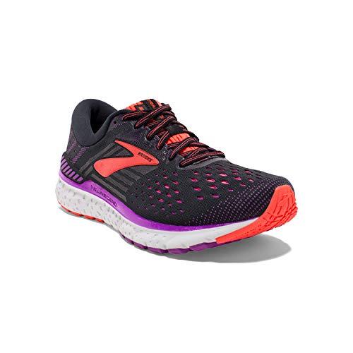 Brooks Transcend 6, Zapatillas de Running para Mujer, Negro (Black/Purple/Coral 080), 36.5 EU