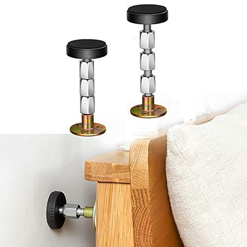 Krisler Adjustable Threaded Bed Frame Anti-Shake Tool, Headboard Stoppers, Bedside Headboards Prevent loosening Anti-Shake Fixer, Easy Install (30-112mm)