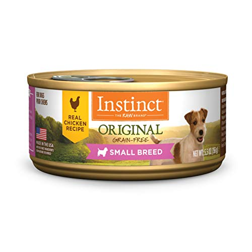 Instinct Original Small Breed Grain Free Real Chicken Recipe Natural Wet Canned Dog Food by Nature's Variety, 5.5 oz. Cans (Case of 12)