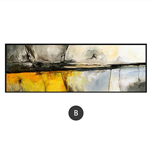Yangmengdan kunstdruk op canvas, abstracte kunst, aquareldruk, grote foto boven het bed of de bank woonkamer decoratieve wand 23.6