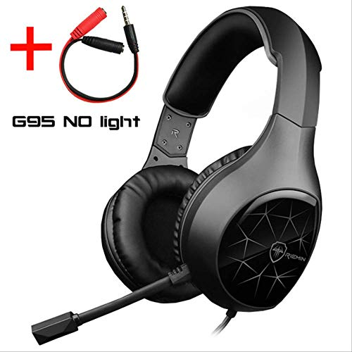 Game Headset, With Microphone Light Surround Bass Headset For Ps4 Xbox One Professional Player Pc Laptop G95 Lightless