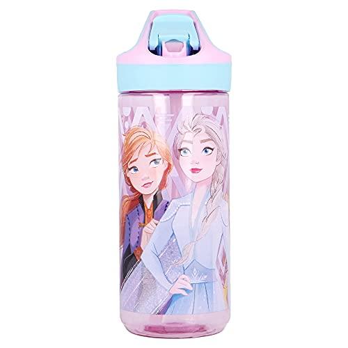 Frozen 2 | Botella de Tritan Reutilizable para Niños | Cantimplora Reusable con Sistema Antigoteo y...