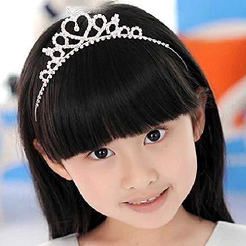 Jovono Corona de boda y tiara para niños, corona de diamantes de...