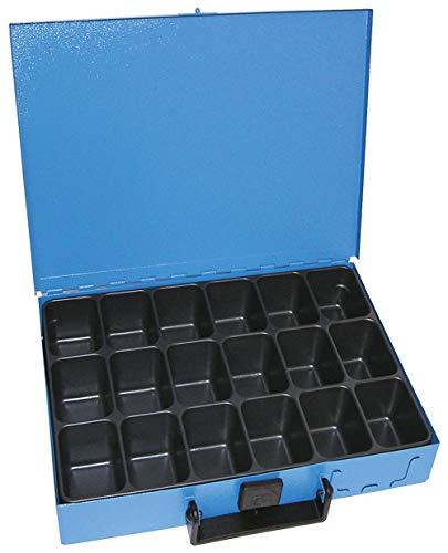 Dresselhaus 8583 - Caja metálica con 18 compartimentos