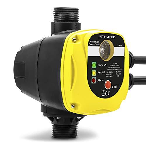 TROTEC Elektronischer Druckschalter TDP DS Pumpensteuerung Druckwächter für Hauswasserwerk Gartenpumpen (max. 10 bar) ohne Stecker