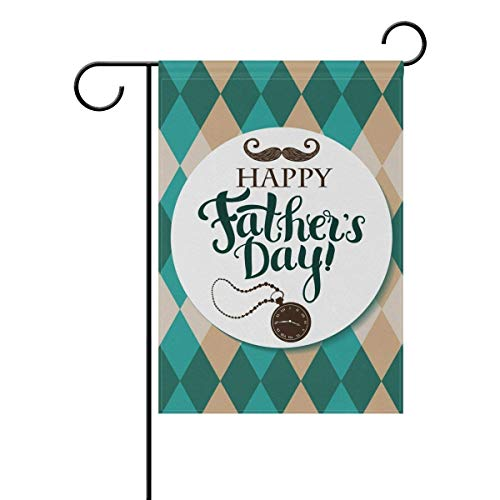 Happy Fathers Day Daddy Garden Yard Flag Banner Decorative for Outside House Flower Pot Double Sided Print 12 x 18 Inch