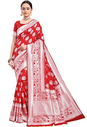 Sarees para mujer étnica fiesta de boda ropa suave banarasi seda sari...