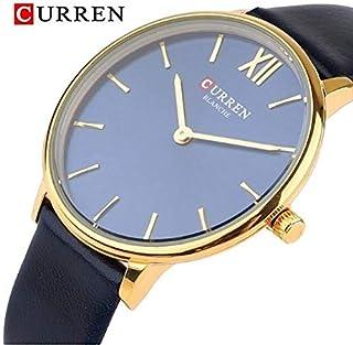 CURREN 9040 Quartz movement ladies Leather strap thin analogue wrist watch- Black