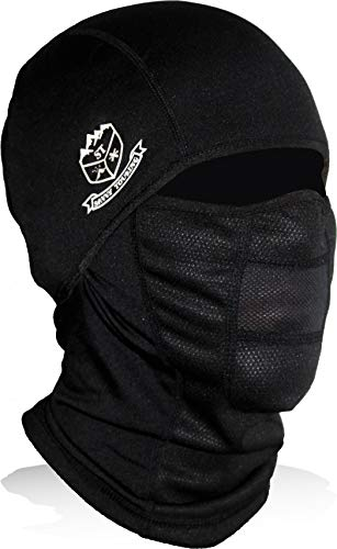 Savvy Touring Pursuit - Winter Balaclava Ski Mask - Breathable Windproof Micro Fleece Face Mask (Black)