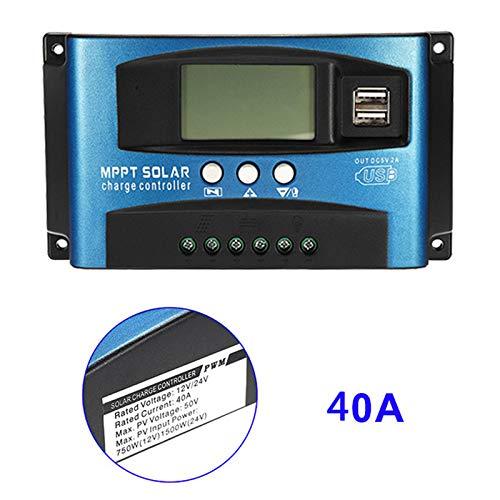 Alftek 40A-100A MPPT zonnepaneel regelaar laadregelaar 12 V / 24 V autofocus tracking apparaat