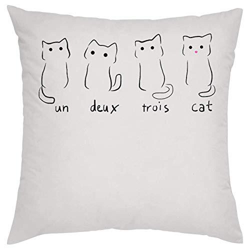 NoMoreFamous Un Deux Trois Cat Cats Kitty Almohada Pillow