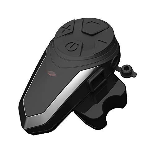 Skyeen Casco de la Motocicleta BT Intercom Radio FM MP3 GPS Walkie-Talkie Intercomunicador de esquí a Prueba de Agua 800-1000m