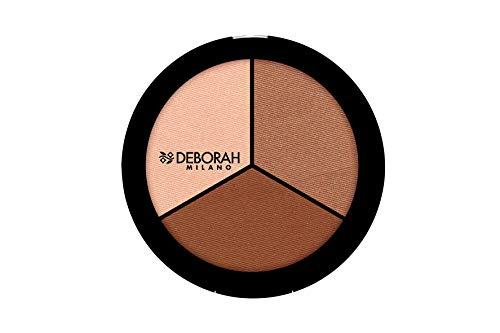 Deborah Milano Trio Contouring Palette, Light/Rose Skins, 5g