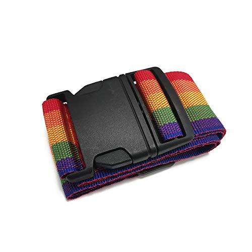 Cinghie per bagagli, Cinghie per valigia regolabili, Cintura per imballaggio da viaggio, Uso per valigie, Borsoni, Borse da viaggio, Arcobaleno