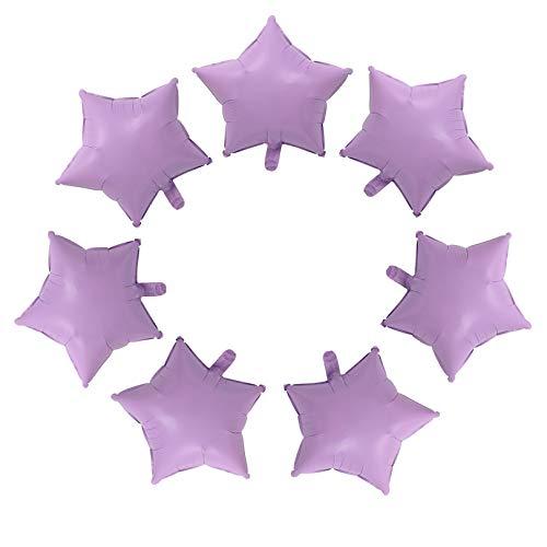 10 Pcs Candy purple Star-Shaped Balloon 18 Inch Foil Balloon Mylar Balloon Happy Birthday Balloons Decoration