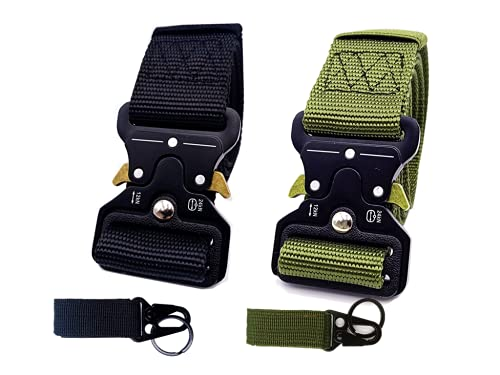 2 Pack Tactical Belt, Military Style Utility Belt...